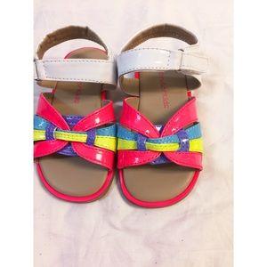 Becky multi Infant Girls sandal size 6 Mrs